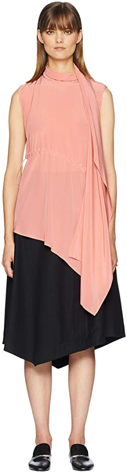 Celia Drawstring Silk Tunic