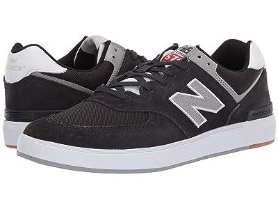 New Balance Numeric AM574 (Phantom/Grey Suede) Men