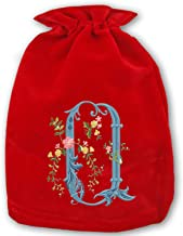 Christmas Drawstring Gift Bags 1 Pack Large Santa Sack Flower O Bag Purse for Christmas Party Favors and Candy
