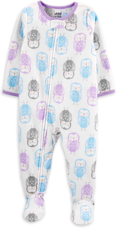 Carter's Little Girls' Toddler Owl Blanket Sleeper Pajamas