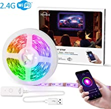 NiteBird Smart LED Strip Lights Work with Alexa Google Home,Sync to Music WiFi TV LED Backlight 9.2Ft Kit for 32'' to 60'' TV, Waterproof 5050 RGB Tape Lights with Controller, Dimmable