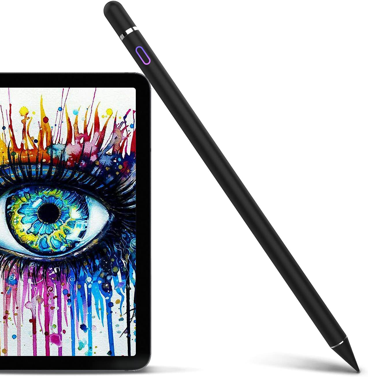 Stylus Pen Compatible with iPad, Pencil Styluses Compatible with iPad 2/3/4/5/6/7/8 Generation Pro 9.7/10.5/11/12.9 Air 1/2/3/4 Mini 1/2/3/4/5 Alternative Drawing Stylist for Touch Screens (Black)