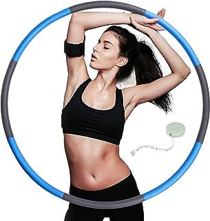 TOPLUS. Rockring vuxna, hula Hoops för människor för viktminskning och massage, 8 avtagbara hula-hoop sektioner av rostfri...