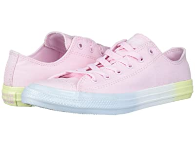 Converse Kids Chuck Taylor(r) All Star(r) Ombre Ox (Little Kid/Big Kid) (Pink Foam/Polar Blue/Lemon Meringue) Girls Shoes