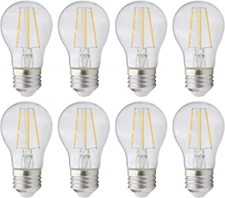 Not Dimmable 4W 8 Pack 2700K Warm White 40W Equivalent Candex 12V Low Voltage LED Filament C12 Flame Tip E12 Candelabra