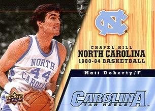 2010/11 Upper Deck North Carolina Basketball # 41 Matt Doherty