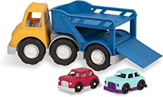 Wonder Wheels by Battat – Car Carrier Truck – Toy Truck with 2 Toy Cars for Toddlers Aged 1 & Up (3Pc)