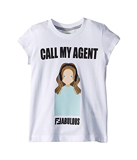 Fendi Kids Call My Agent Tee (Toddler)