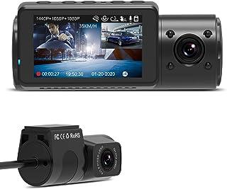 VANTRUE N4 3 Lens Dashcam 1440P + Dual 1080P Kamera Auto, 4K 3840x 2160P vorne, Infrarot Cut Nachtsicht, 24/7 Parkmodus, WDR 2.45 Zoll IPS, Hitzebeständig Superkondensator Dash Cam G Sensor Max 256GB