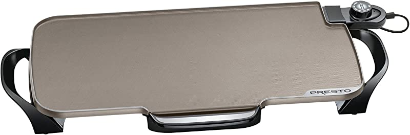 Presto 07062 Ceramic 22 Inch Electric Griddle With Removable Handles Black