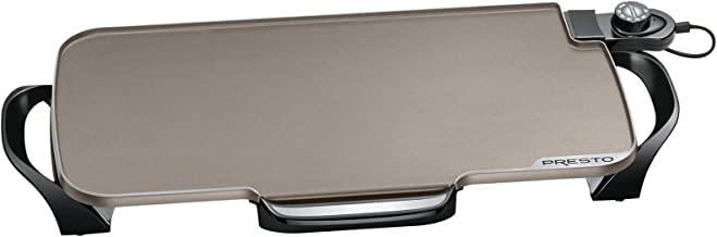 Presto 07062 Ceramic 22-inch Electric Griddle with removable handles, Black