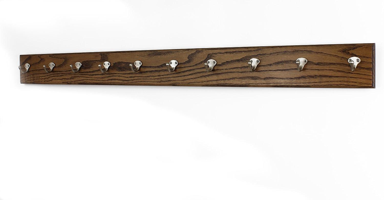 Oak Long-awaited Popular brand in the world Wall Mounted Coat Rack Singular Style Hooks 4.5 Satin Nickel