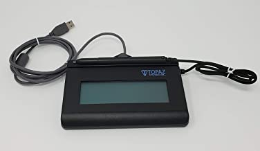 Topaz SignatureGem T-LBK462-HSB-R 1X5 Backlit LCD Signature Capture Pad USB Connection (Renewed)