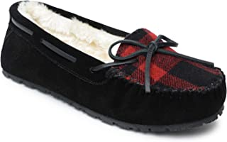 Sperry Women's Junior Trapper Lace-Up Slippers, 11, M, Black/Red Plaid