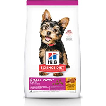 Hill's Science Diet Dry Dog Food, Puppy, Small Paws for Small Breeds, Chicken Meal, Barley & Brown Rice Recipe
