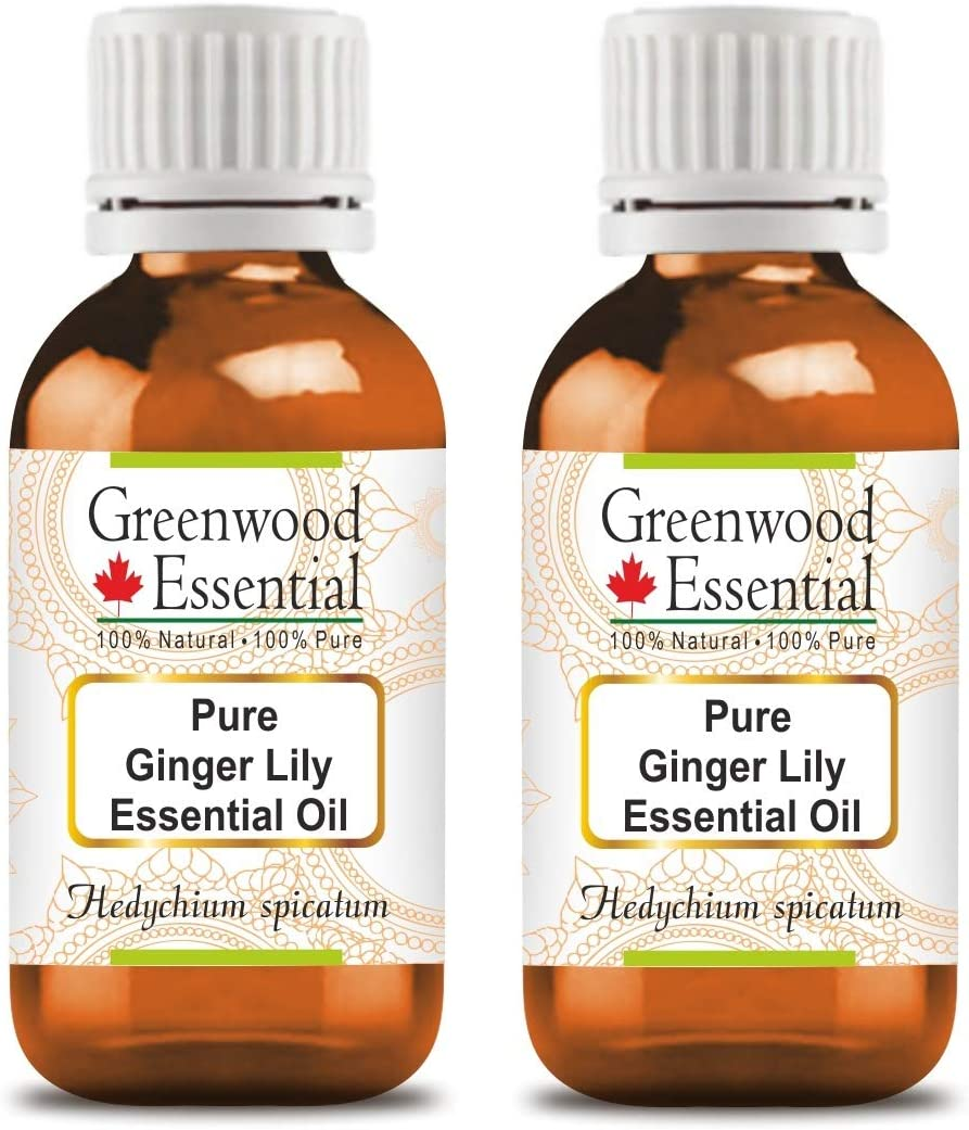 Greenwood Essential Pure Ginger Oil supreme Lily Hedychium Year-end gift sp