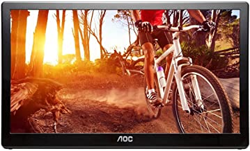 AOC e1659Fwu 16-Inch Ultra Slim 1366x768 Res 200 cd/m2 Brightness USB 3.0-Powered Portable LED Monitor (Renewed)