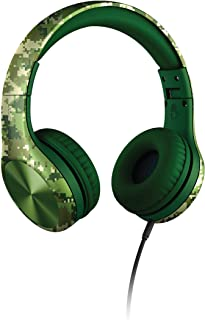 New! LilGadgets Connect+ Pro Premium Volume Limited Wired Headphones with SharePort for Children Green