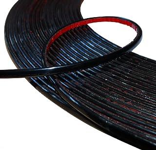 Aerzetix: 4mm 4.5m schwarz Klebeband auf Auto Auto Motorrad Stick