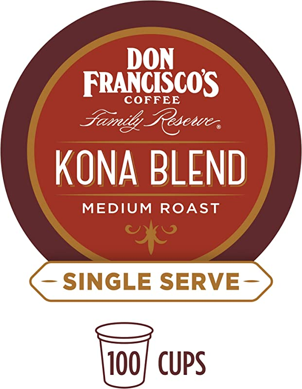 Don Francisco S Kona Blend 100 Pods Medium Roast Single Cup Coffee Pods Compatible With Keurig K Cup Machines