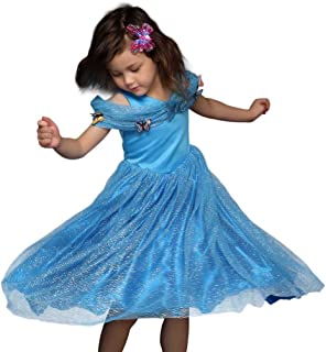 Pettigirl Girls' Princess Elsa Fancy Dress Costume