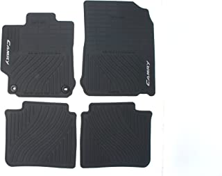 Genuine Toyota Accessories PT908-03120-20 Front and Rear All-Weather Floor Mat - (Black), Set of 4