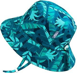 JAN & JUL Kids' Sun-Hat for Boys Girls, Lightweight, Breathable Polyester (L: 2-5T, Cool Tropical)
