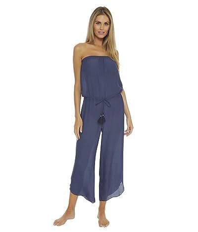 BECCA by Rebecca Virtue Wayfarer Textured Woven Jumpsuit Cover-Up (Marina) Women