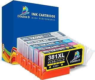 【Double D】キャノン(Canon) BCI-381 互換インクカートリッジ 4色5点セット