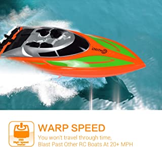 Contixo T1 RC Boat - Remote Control Racing Sport Speedboat - Perfect for Swimming Pool Toy Ship/Lakes/Rivers/Great for Kid Pool toy - RC Boats for Adults and Kids - Recreational Hobby Best Gift-Orange