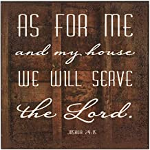 As for Me and My House We Will Serve The Lord 6 x 6 Wood Wall Plaque