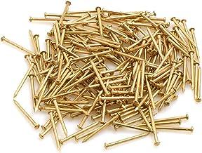 Design61 Ronde kopstiften nagels nagels 1,6 x 20 mm ijzer messing 100g (ca. 300 stuks)