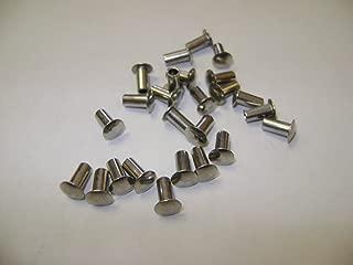 25 NMD Brand T316 Stainless Steel Oval Head Semi Tubular 1/4X1/8 Hollow Rivets For Tonka Toy Trucks