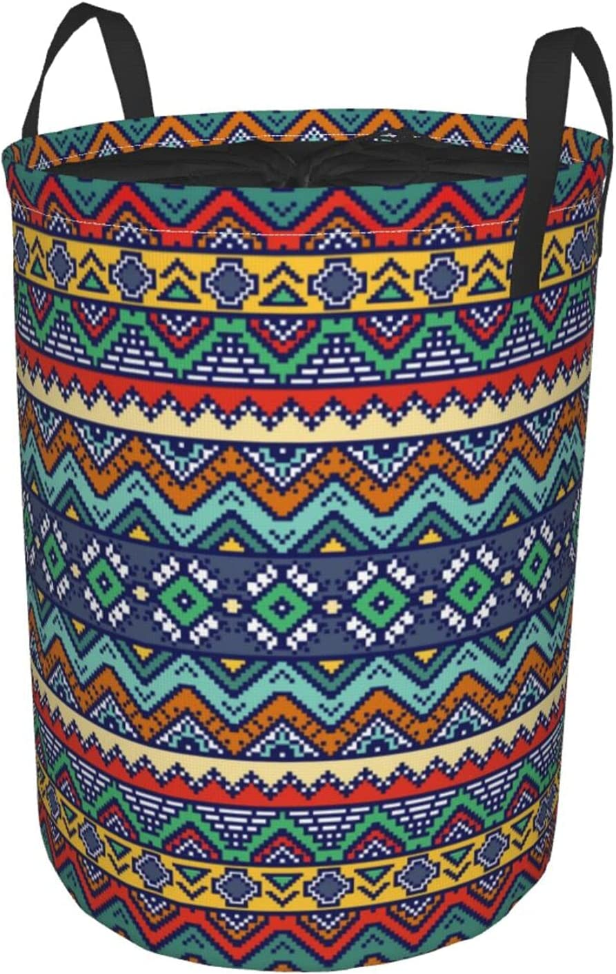 Naoingei Selling and selling Bohemian Aztec Motives Circular Round Tunic Hamper Denver Mall Dirt