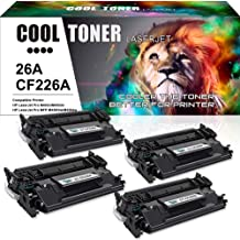 Cool Toner 4PK Compatible Toner Cartridge Replacement for HP 26X CF226X 26A CF226A for HP Laserjet Pro M402dn M402n M402d M402dw, Laserjet Pro MFP M426fdw M426fdn M426dw, M402 M426 Series Printer Ink