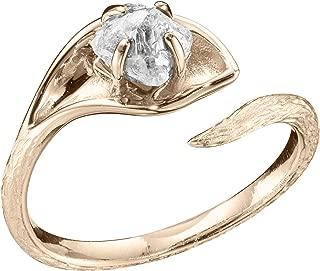 raw uncut diamond engagement ring