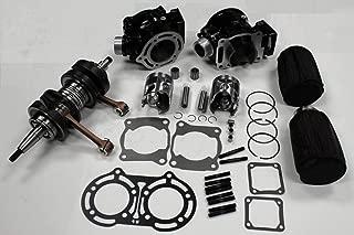 Cylinder (BLACK color) Piston Gasket Crankshaft Air Filter and Cover Kit for Yamaha Banshee YFZ350 YFZ 350 1987~2006