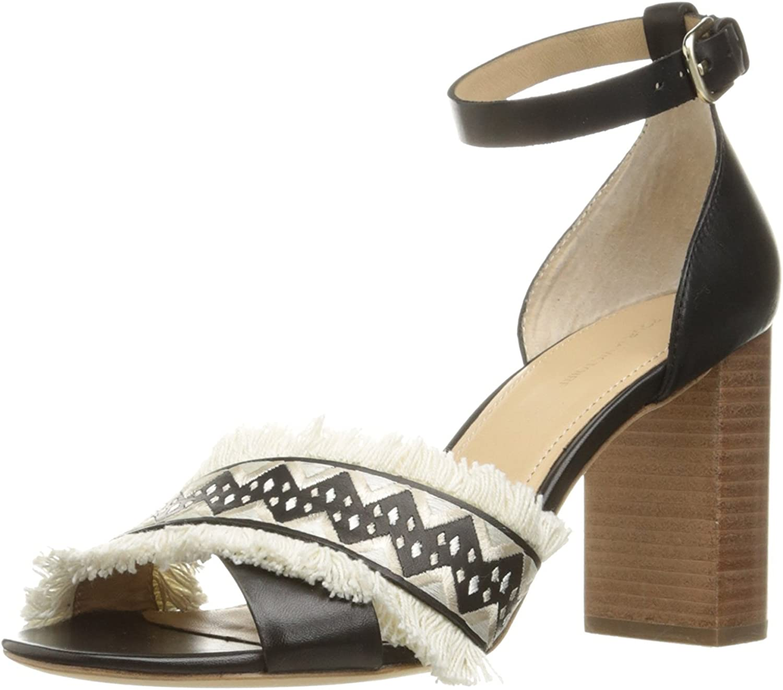 Pour La Victoire Womens Havana Peep Toe Casual Ankle Strap, Black, Size 11.0