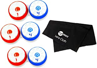 Dial a Date Contact Lens Case, Stay Organized! Orange/Blue, 3 Pack