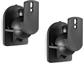 WALI Dual Speaker Wall Mount Brackets Multiple Adjustments for Bookshelf, Surround Sound..