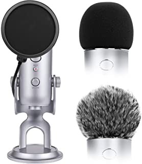 Microphone Cover for Blue Yeti Foam Cover Pop Filter for...