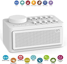Zidoo White Noise Sound Machine Sleep Therapy with Real Fan Inside for Non-Looping White Noise Sounds,Sound Spa Relaxation Machine for Baby Adult and Traveler