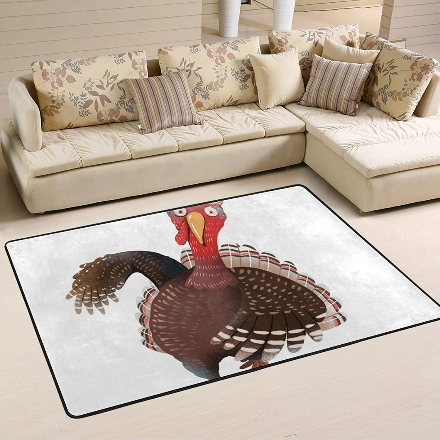 FAJRO Thanksgiving Turkey mud shoes Scraper Area Rug Entry Way Doormat Multipattern Floor Mats Home Dec Anti-Slip Indoor Outdoor