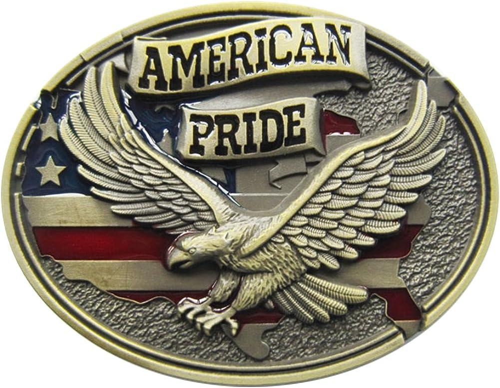 New Oval Western American Pride Fly Eagle Vintage Belt Buckle Gu