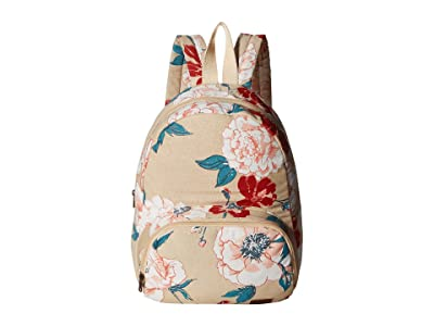 Roxy Always Core Canvas Backpack (Ivory Cream New Flowers) Backpack Bags