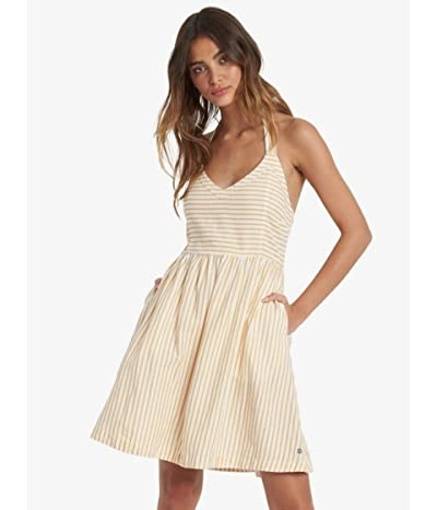 Roxy From the Side Dress (Snow White Indie Stripes) Women