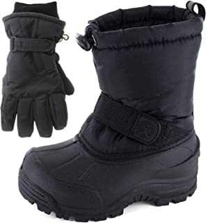 Northside Frosty Kids Winter Snow Boots & Gloves Combo for Girls & Boys