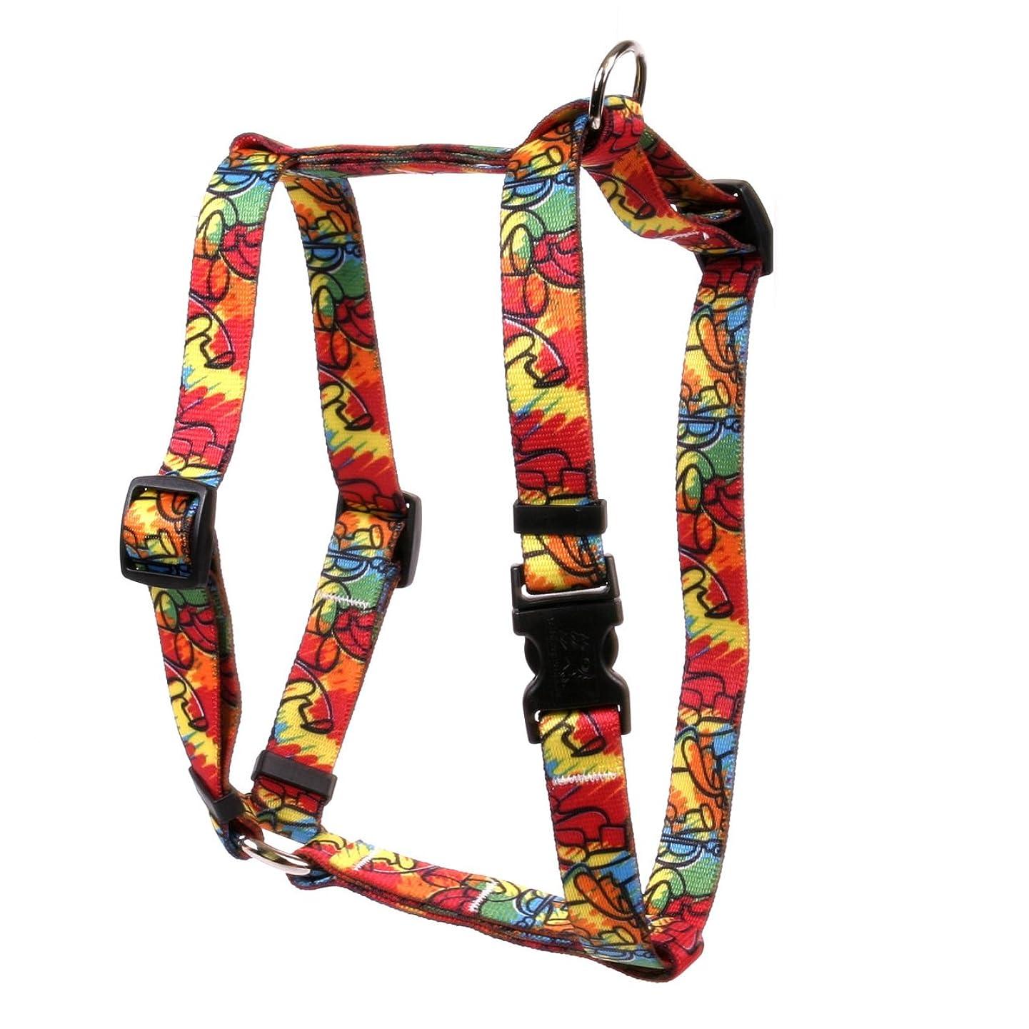 Yellow Dog Design Jazz Paint Roman Style H Dog Harness