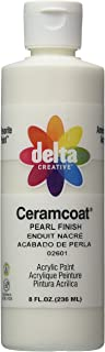 Delta Creative Ceramcoat Acrylic Gleam Paint (8 Ounce), 026018 Pearl Finish