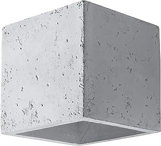 Sollux QUAD BETON SL.0487 - Lámpara de pared LED moderna para salón, dormitorio, baño, pasillo, oficina, casquillo G9, color gris